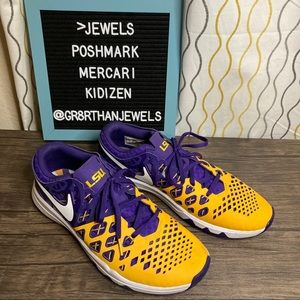 Nike Purple & Gold LSU Tigers Lace Up Shoes 10.5
